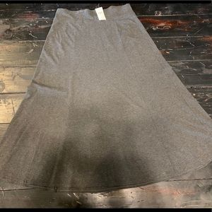 J. Jill Charcoal Gray Long Skirt